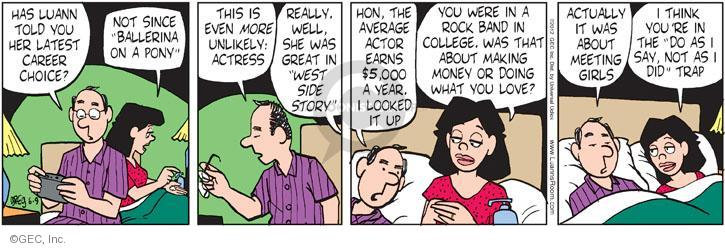 Comic Strip Greg Evans  Luann 2012-06-09 actress