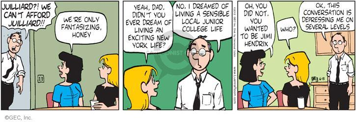 Comic Strip Greg Evans  Luann 2012-06-13 fantasize