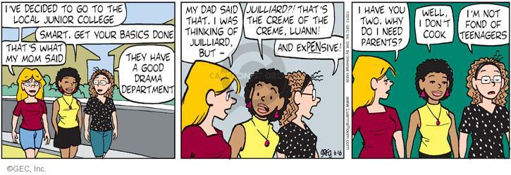 Comic Strip Greg Evans  Luann 2012-06-16 junior college