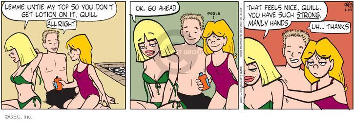 Luann comics bikini