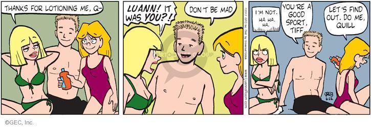 Comic Strip Greg Evans  Luann 2012-06-22 sport