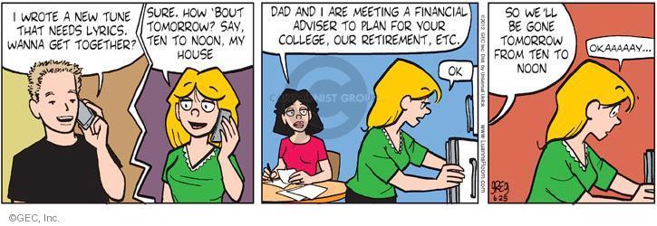 Comic Strip Greg Evans  Luann 2012-06-25 tomorrow