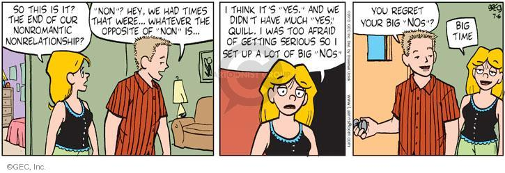 Comic Strip Greg Evans  Luann 2012-07-06 set up