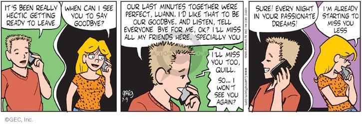 Comic Strip Greg Evans  Luann 2012-07-09 less