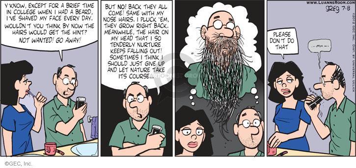 Comic Strip Greg Evans  Luann 2012-07-08 know