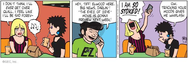 Comic Strip Greg Evans  Luann 2012-07-17 emotion
