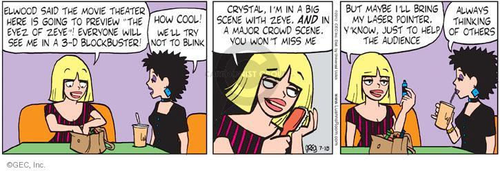 Comic Strip Greg Evans  Luann 2012-07-18 actress