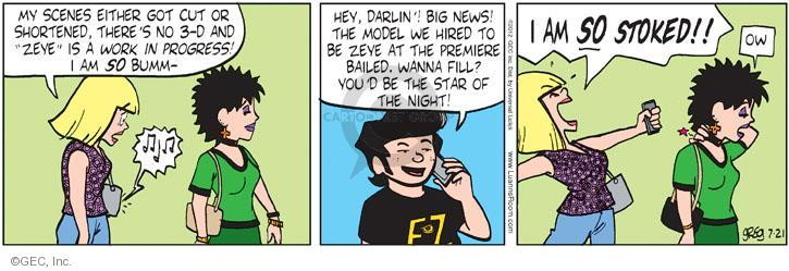 Comic Strip Greg Evans  Luann 2012-07-21 actress