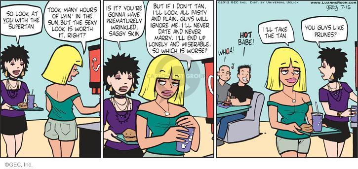 Comic Strip Greg Evans  Luann 2012-07-15 skin