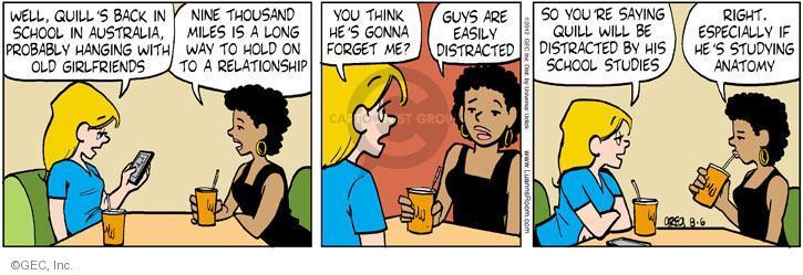 Comic Strip Greg Evans  Luann 2012-08-06 way back