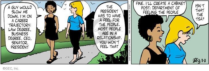 Comic Strip Greg Evans  Luann 2012-08-08 businesswoman