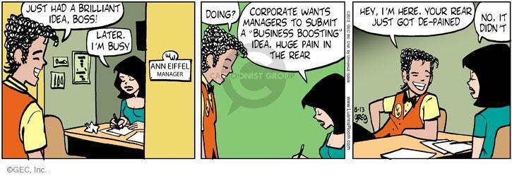 Comic Strip Greg Evans  Luann 2012-08-13 business idea