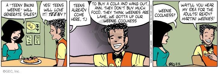 Comic Strip Greg Evans  Luann 2012-08-15 fast food