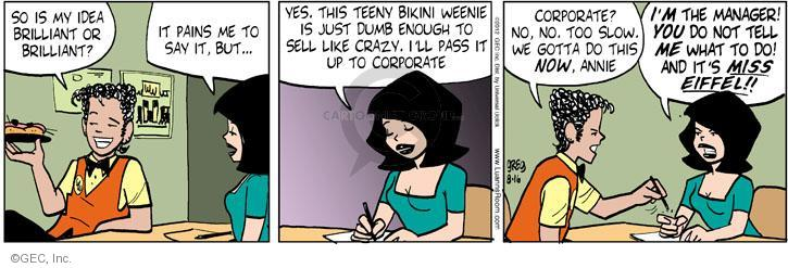 Comic Strip Greg Evans  Luann 2012-08-16 marketing