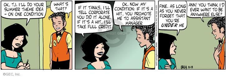 Comic Strip Greg Evans  Luann 2012-08-18 marketing
