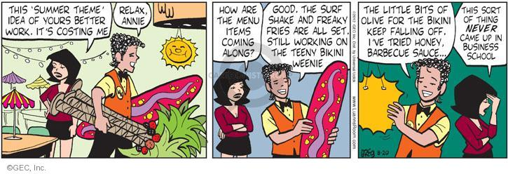 Comic Strip Greg Evans  Luann 2012-08-20 business school