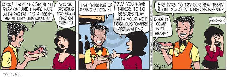Cartoonist Greg Evans  Luann 2012-08-21 customer
