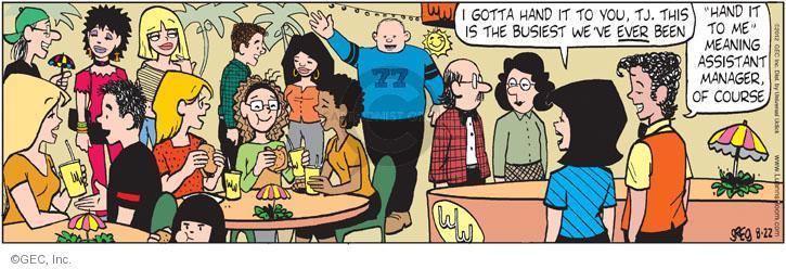 Comic Strip Greg Evans  Luann 2012-08-22 management