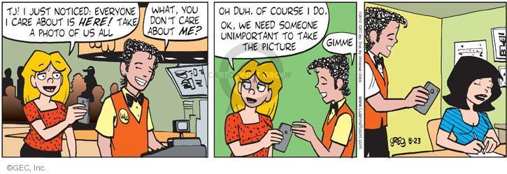 Comic Strip Greg Evans  Luann 2012-08-23 duh
