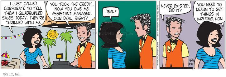Comic Strip Greg Evans  Luann 2012-08-25 manager