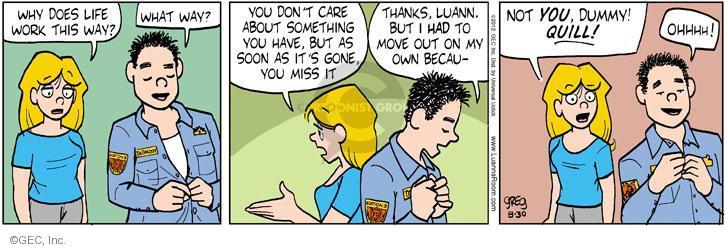Cartoonist Greg Evans  Luann 2012-08-30 date