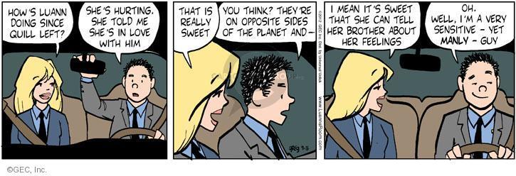 Cartoonist Greg Evans  Luann 2012-09-05 date