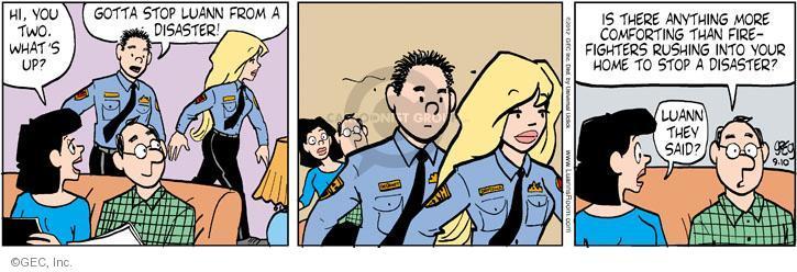 Comic Strip Greg Evans  Luann 2012-09-10 disaster