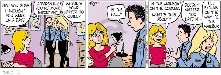 Cartoonist Greg Evans  Luann 2012-09-11 apparently