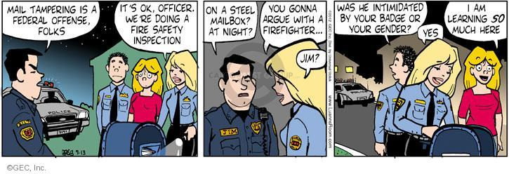 Comic Strip Greg Evans  Luann 2012-09-13 law enforcement