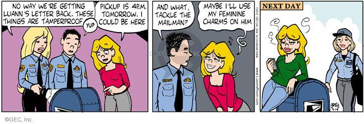 Comic Strip Greg Evans  Luann 2012-09-14 way back
