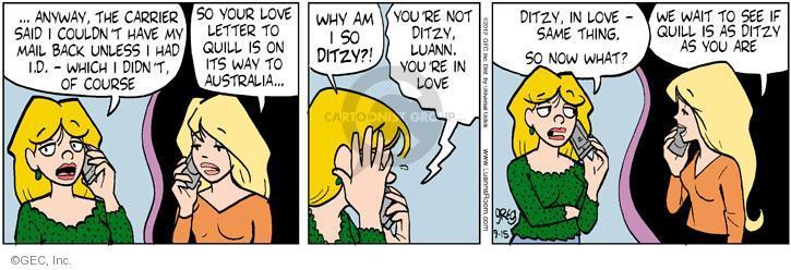 Comic Strip Greg Evans  Luann 2012-09-15 way back