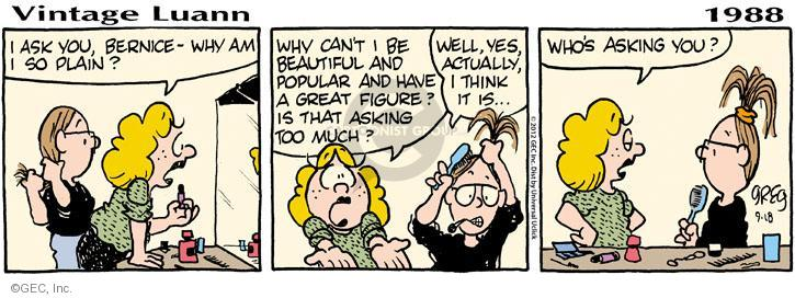 Comic Strip Greg Evans  Luann 2012-09-18 friendship