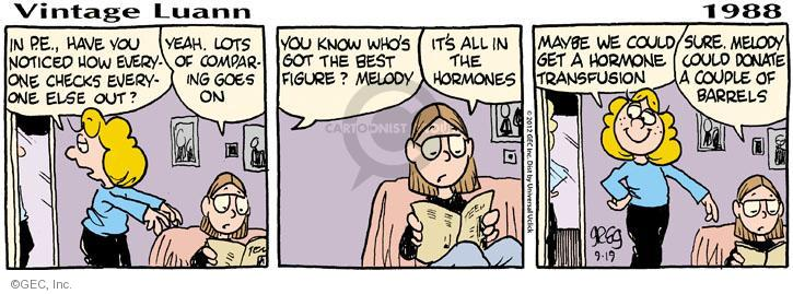 Comic Strip Greg Evans  Luann 2012-09-19 hormone