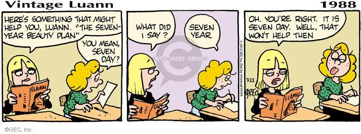 Comic Strip Greg Evans  Luann 2012-09-22 adolescent