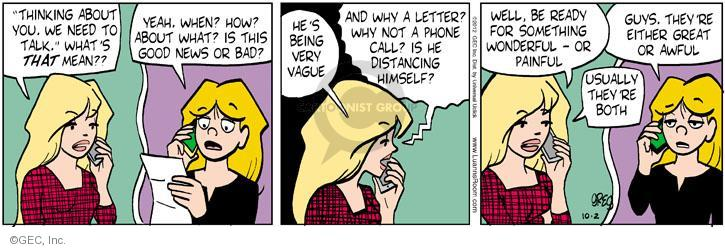 Cartoonist Greg Evans  Luann 2012-10-02 bad date