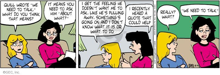Comic Strip Greg Evans  Luann 2012-10-04 quote