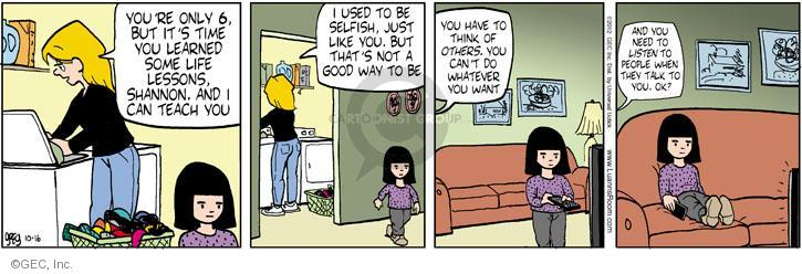Comic Strip Greg Evans  Luann 2012-10-16 lesson