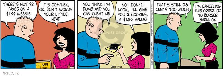 Comic Strip Greg Evans  Luann 2012-10-23 fast food