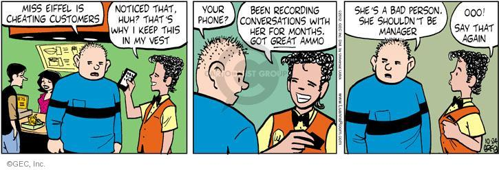 Cartoonist Greg Evans  Luann 2012-10-24 customer