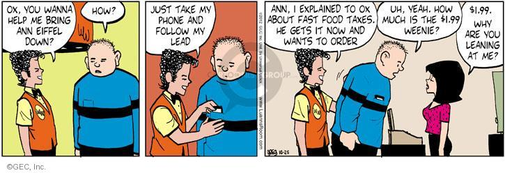 Comic Strip Greg Evans  Luann 2012-10-25 dining out