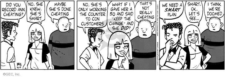 Comic Strip Greg Evans  Luann 2012-10-31 dining out