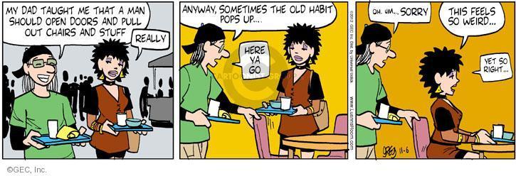 Comic Strip Greg Evans  Luann 2012-11-06 kindness