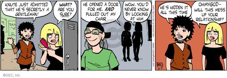 Comic Strip Greg Evans  Luann 2012-11-07 out door
