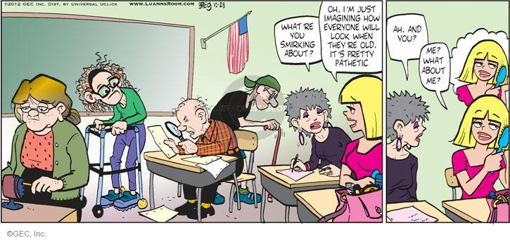 Comic Strip Greg Evans  Luann 2012-10-28 aging