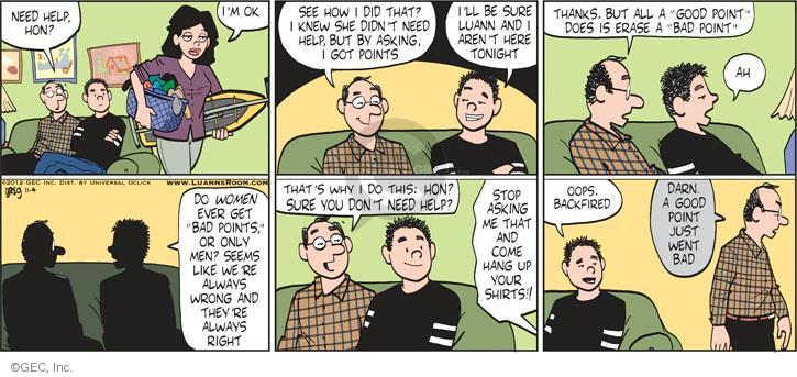 Comic Strip Greg Evans  Luann 2012-11-04 married couple