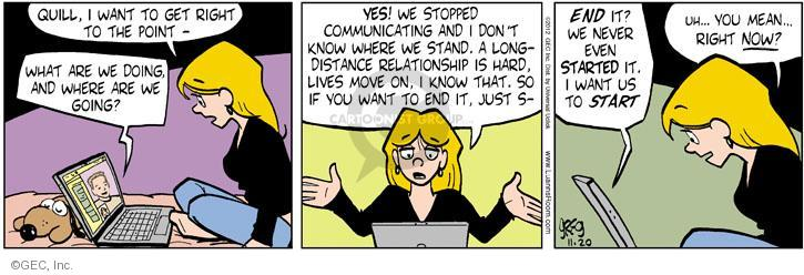 Cartoonist Greg Evans  Luann 2012-11-20 point