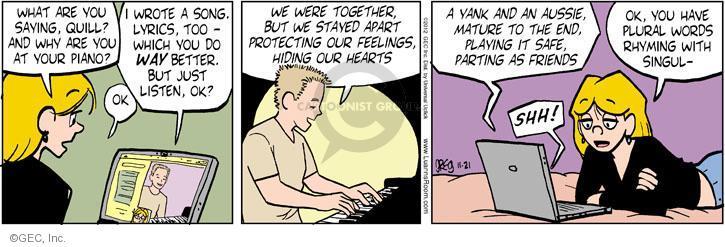 Comic Strip Greg Evans  Luann 2012-11-21 romance