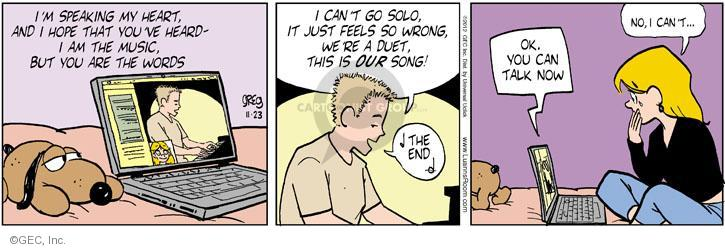 Comic Strip Greg Evans  Luann 2012-11-23 romance