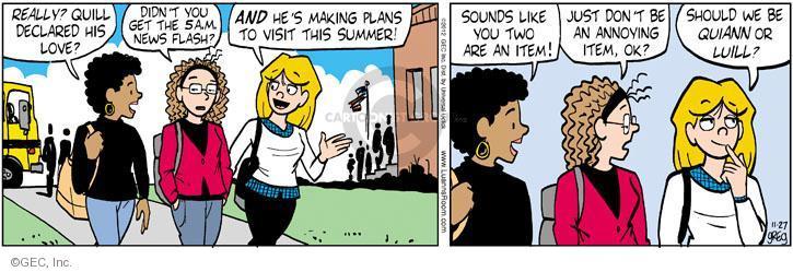 Comic Strip Greg Evans  Luann 2012-11-27 item
