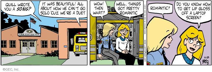 Comic Strip Greg Evans  Luann 2012-11-29 pretty girl